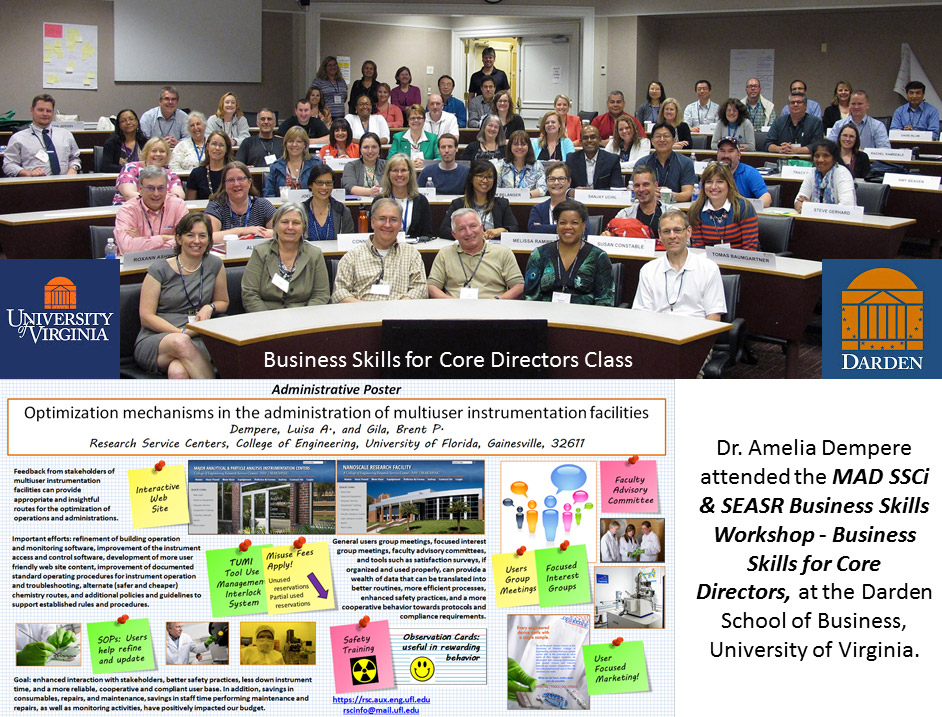University of Virgina/Darden - Photo of Business Skills for Core Directors Class - Dr. Amelia Dempere attended the MAD SSCi & SEASR Business Skills Workshop - Business Skills for Core Directors, at the Darden School of Business, University of Virginia.
